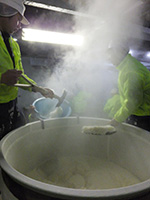 【蒸し米の掘り出し】